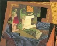 Fruit bowl on a table cloth by Juan Gris