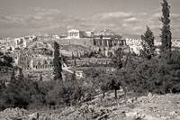 Athenian Acropolis from Philopappou Hill, 1960Sepi by Priscilla Turner