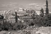 Athenian Acropolis from Philopappou Hill, 1960Sepi by Priscilla Turner