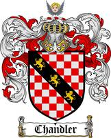 CHANDLER FAMILY CREST -  CHANDLER COAT OF ARMS