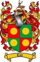 COX FAMILY CREST -  COX COAT OF ARMS