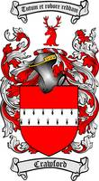 CRAWFORD FAMILY CREST -  CRAWFORD COAT OF ARMS