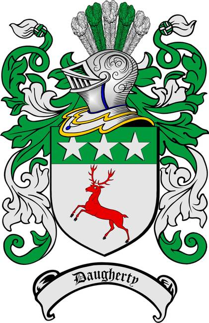DAUGHERTY FAMILY CREST -  DAUGHERTY COAT OF ARMS