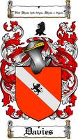 DAVIES FAMILY CREST -  DAVIES COAT OF ARMS