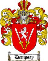 DEMPSEY FAMILY CREST -  DEMPSEY COAT OF ARMS