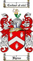 BYRNE FAMILY CREST -  BYRNE COAT OF ARMS