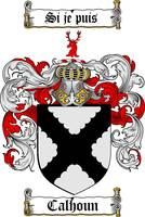 CALHOUN FAMILY CREST -  CALHOUN COAT OF ARMS