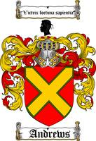 ANDREWS FAMILY CREST - COAT OF ARMS