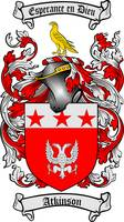 ATKINSON FAMILY CREST - COAT OF ARMS