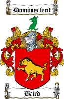 BAIRD FAMILY CREST - COAT OF ARMS