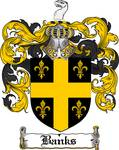 BANKS FAMILY CREST - COAT OF ARMS