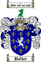 BARKER FAMILY CREST - COAT OF ARMS