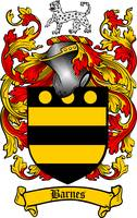 BARNES FAMILY CREST - COAT OF ARMS