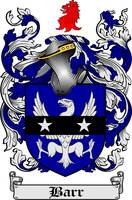 BARR FAMILY CREST - COAT OF ARMS