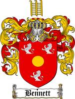 BENNETT FAMILY CREST - COAT OF ARMS