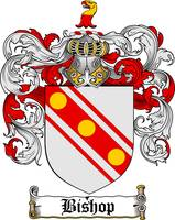 BISHOP FAMILY CREST - COAT OF ARMS