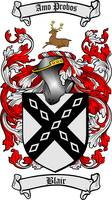 BLAIR FAMILY CREST - COAT OF ARMS