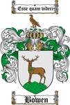 BOWEN FAMILY CREST - COAT OF ARMS