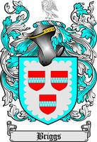 BRIGGS FAMILY CREST - COAT OF ARMS