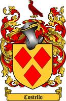 COSTELLO FAMILY CREST - COAT OF ARMS