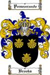 BROOKS FAMILY CREST - COAT OF ARMS