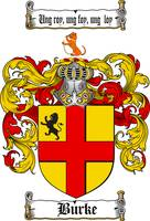 BURKE FAMILY CREST - COAT OF ARMS