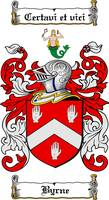 BYRNE FAMILY CREST - COAT OF ARMS