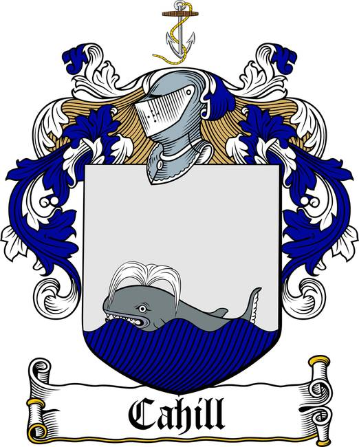 CAHILL FAMILY CREST - COAT OF ARMS. See this Artwork on: