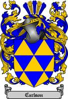 CARLSON FAMILY CREST - COAT OF ARMS