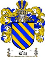 DIAZ FAMILY CREST - COAT OF ARMS