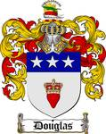 DOUGLAS FAMILY CREST - COAT OF ARMS