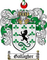 GALLAGHER FAMILY CREST - COAT OF ARMS