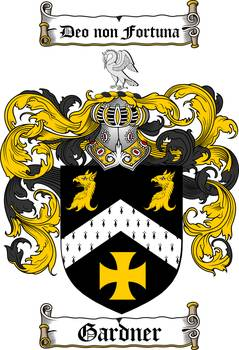 Gardner Family Crest Coat Of Arms By Family Crest