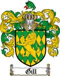 GILL FAMILY CREST - COAT OF ARMS