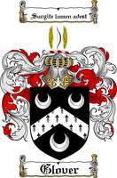 GLOVER FAMILY CREST - COAT OF ARMS