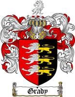 GRADY FAMILY CREST - COAT OF ARMS