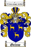 GREENE FAMILY CREST - COAT OF ARMS