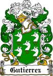 GUTIERREZ FAMILY CREST - COAT OF ARMS