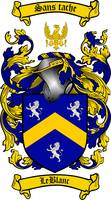 LEBLANC FAMILY CREST - COAT OF ARMS