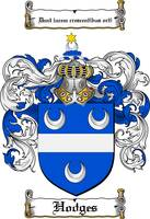HODGES FAMILY CREST - COAT OF ARMS