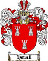 HOWELL FAMILY CREST - COAT OF ARMS