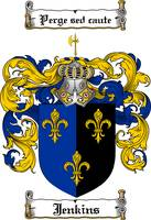 JENKINS FAMILY CREST - COAT OF ARMS