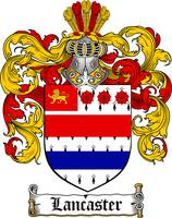 LANCASTER FAMILY CREST - COAT OF ARMS