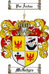 MCINTYRE FAMILY CREST - COAT OF ARMS