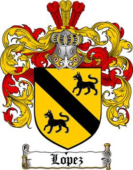 LOPEZ FAMILY CREST - COAT OF ARMS by Family Crest