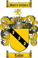 LOWE FAMILY CREST - COAT OF ARMS