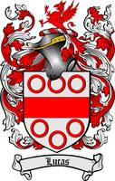 LUCAS FAMILY CREST - COAT OF ARMS