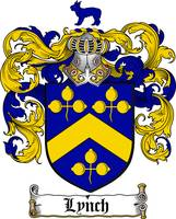LYNCH FAMILY CREST - COAT OF ARMS