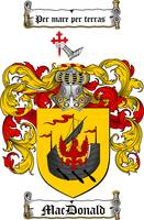 MACDONALD FAMILY CREST - COAT OF ARMS