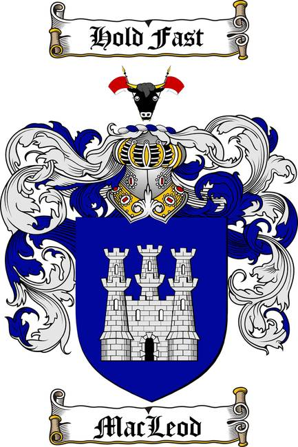 MACLEOD FAMILY CREST - COAT OF ARMS
